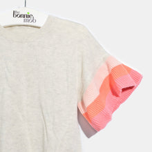 将图片加载到图库查看器,L-NISHA-Colourblock Ruffle Sleeve Top-Baby Girl-Blush