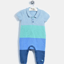将图片加载到图库查看器,L-NOELLE-Colourblock Polo Playsuit-Baby Boy-Blue