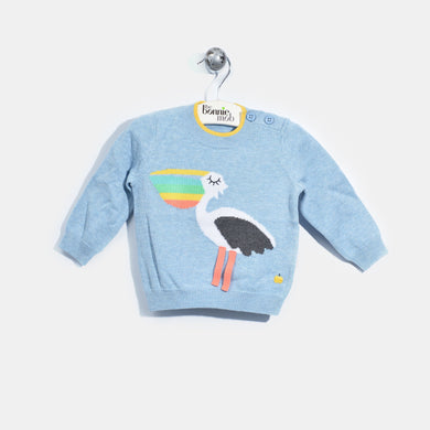 L-PERCI-Perci Pelican T-shirt-Baby-Light Denim