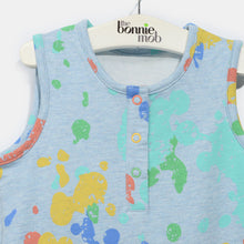 将图片加载到图库查看器,L-RIAN-Splatter Print Romper-Kids-Faded Denim