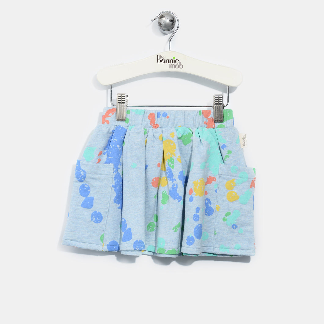 L-RILEY-Splatter Print Skirt-Baby Girl-Faded Denim
