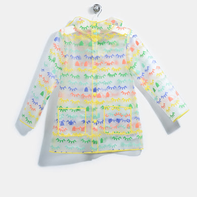 L-STELLA-Blinky Eye Rainbow Print Raincoat-Kids-Rainbow