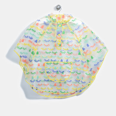 L-SUZY-Blinky Eye Rainbow Print Poncho-Kids-Rainbow