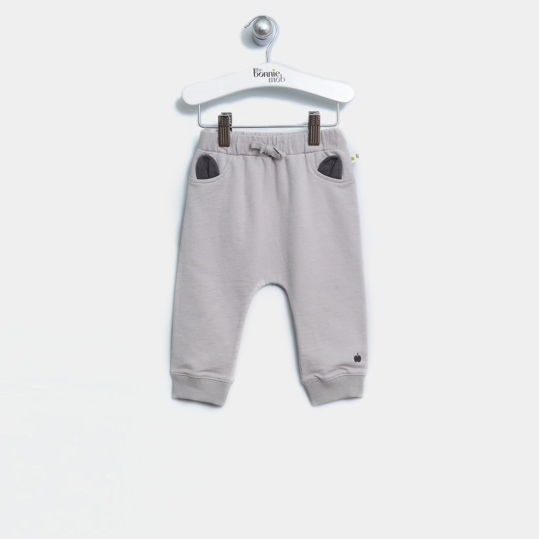 L-THEO 21724 J - BABY - PANTS - GREY