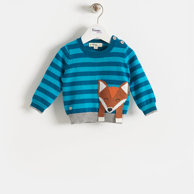 LOREK - BABY - SWEATER - TEAL