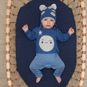MILKYWAY - Baby - Playsuit - Moon Intarsia