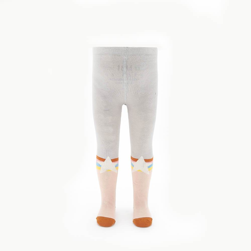 MOLLY - Kids Rainbow Star Tights  - PINK