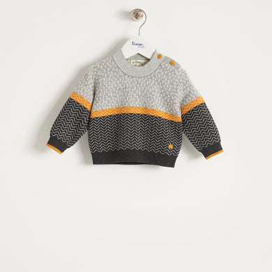 OBI - BABY - SWEATER - GREY
