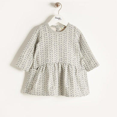 ORLA - Baby Girl Bamboo Print Dress - Grey