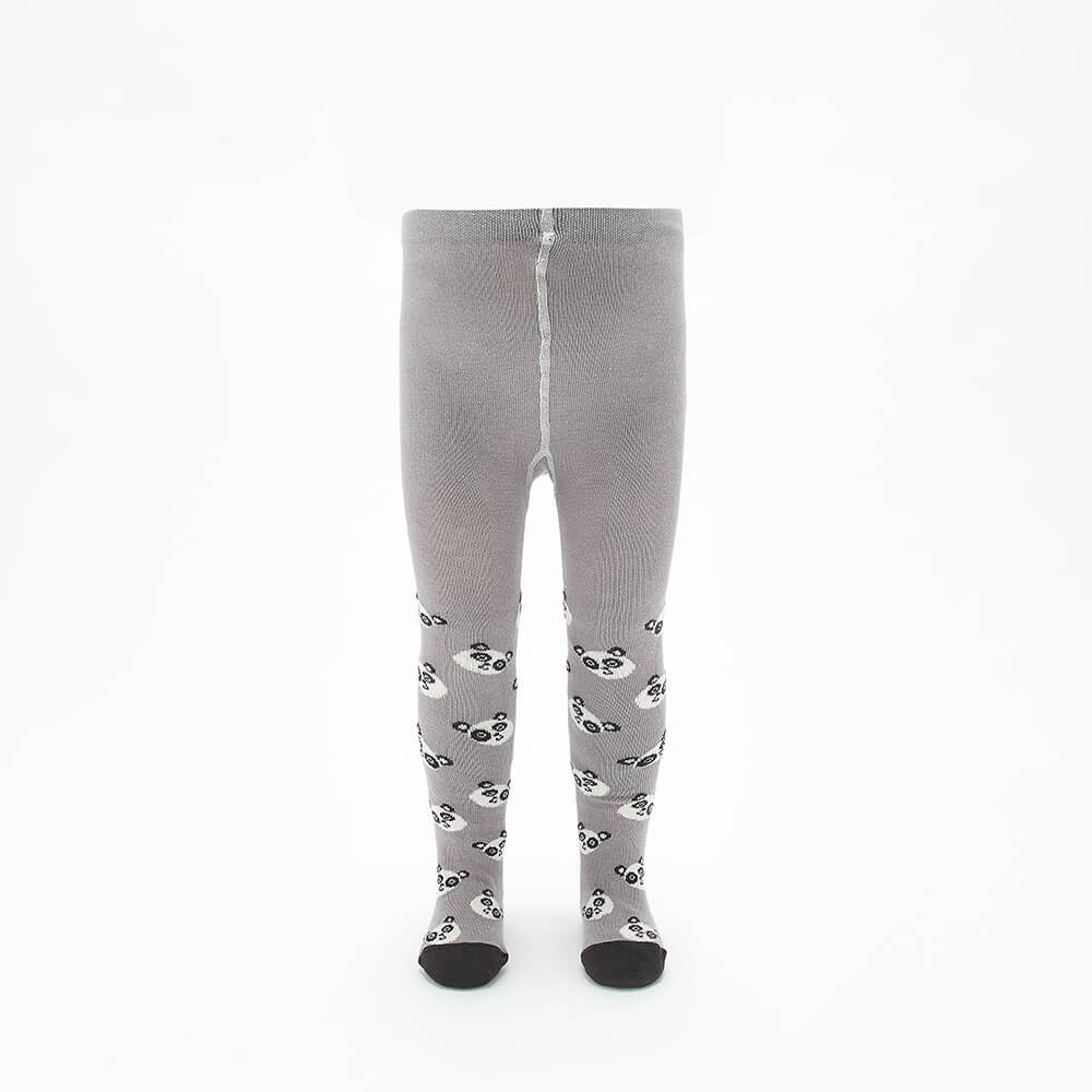 PEEP - Baby Panda Face Tights - GREY
