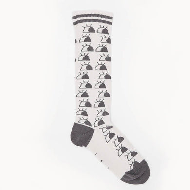 RENOIR - I See You' Knee High Kids Socks - Putty