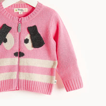 将图片加载到图库查看器,RHYME - Bunny Ears Cardigan - Baby Girl - Pink