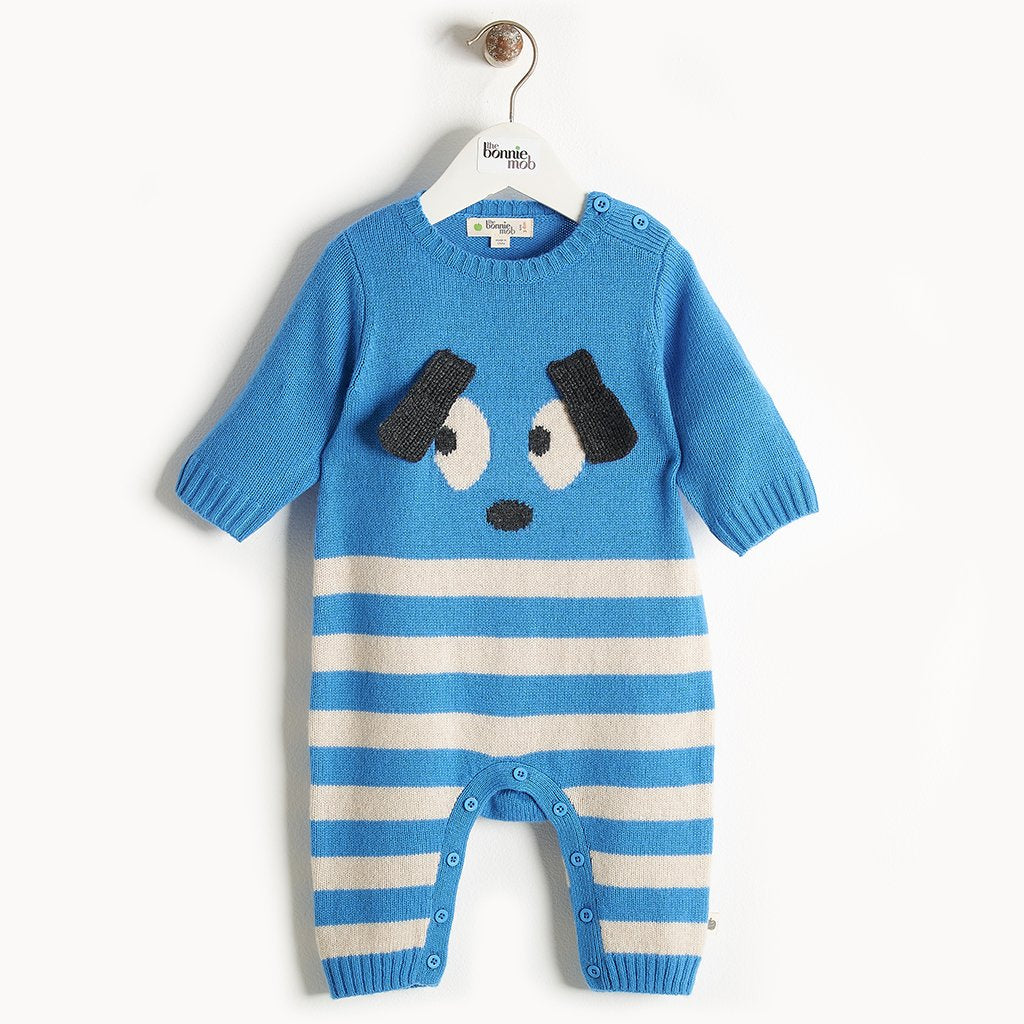 ROXY - Bunny Ears Playsuit - Baby Boy - Blue