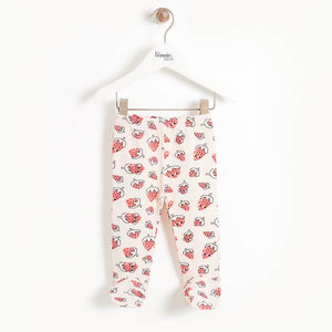 SHOUT - Baby 2 Piece Wrap Top and Footie Legging - STRAWBERRY