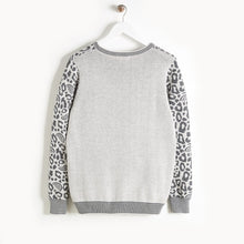 将图片加载到图库查看器,SOLO - Leopard Spot Sweater - Kids Unisex - Grey