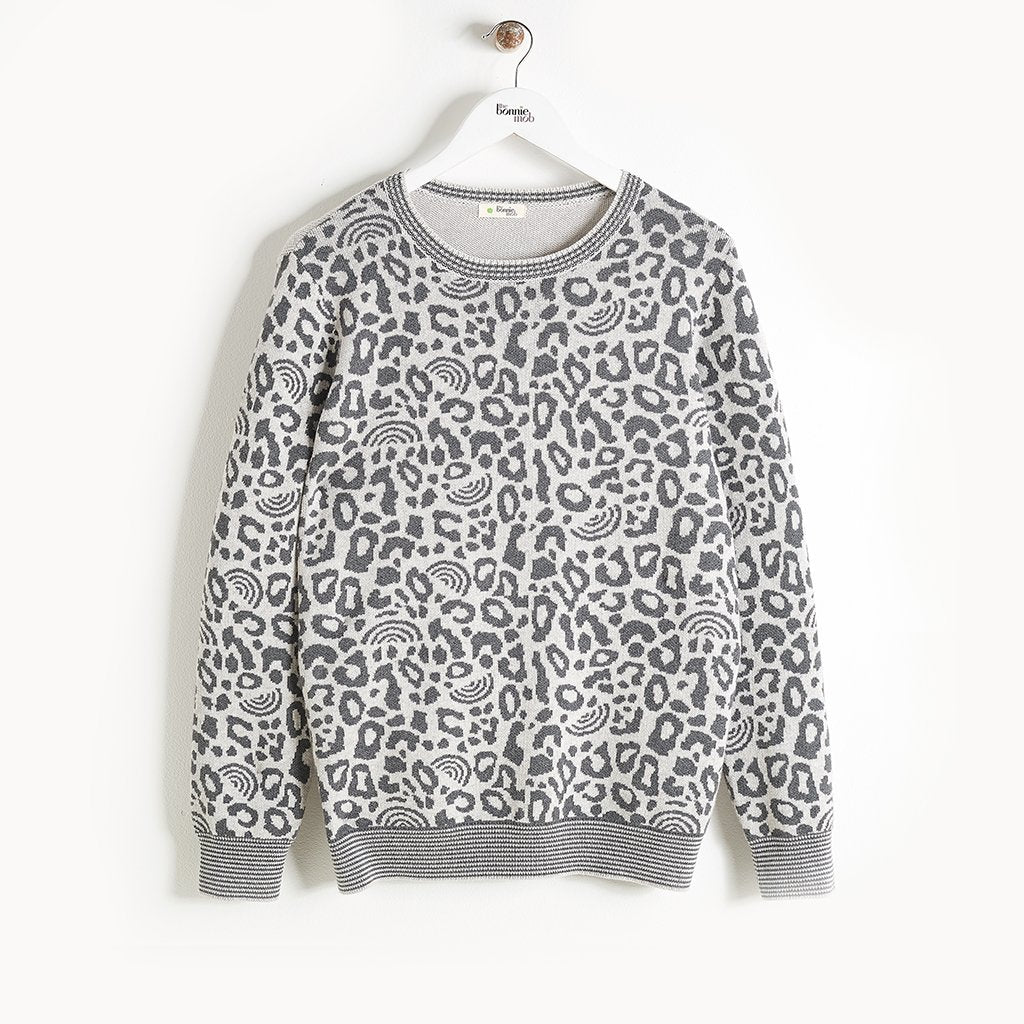 SOLO - Leopard Spot Sweater - Kids Unisex - Grey
