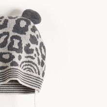 将图片加载到图库查看器,SPOTTY - Leopard Spot Hat With Ears - Kids Unisex - Grey