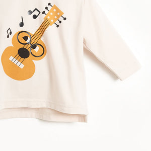 STUDIO - Baby Long Sleeve T-shirt - PLACED GUITAR