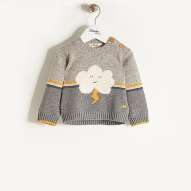 VONNY - Unisex Kids Knitted Flash Cloud Sweater - Teal