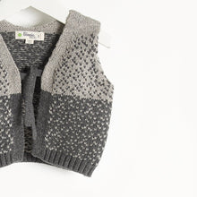 将图片加载到图库查看器,WARREN - Chunky Knit Gilet - Kids Unisex - Grey