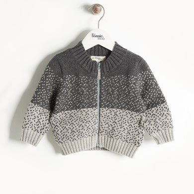WONDER - Chunky Knit Cardigan - Kids Unisex - Grey
