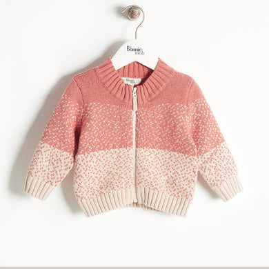 WONDER - Chunky Knit Cardigan - Kids Girl - Pink