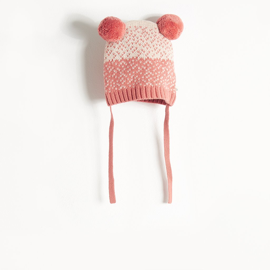 WOOLEY - Chunky Knit Hat - Kids Girl - Pink