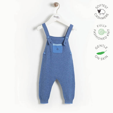 YELL - Baby Knitted Dungaree - BLUE