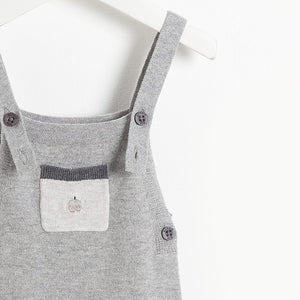 YELL - Baby Knitted Dungaree - GREY