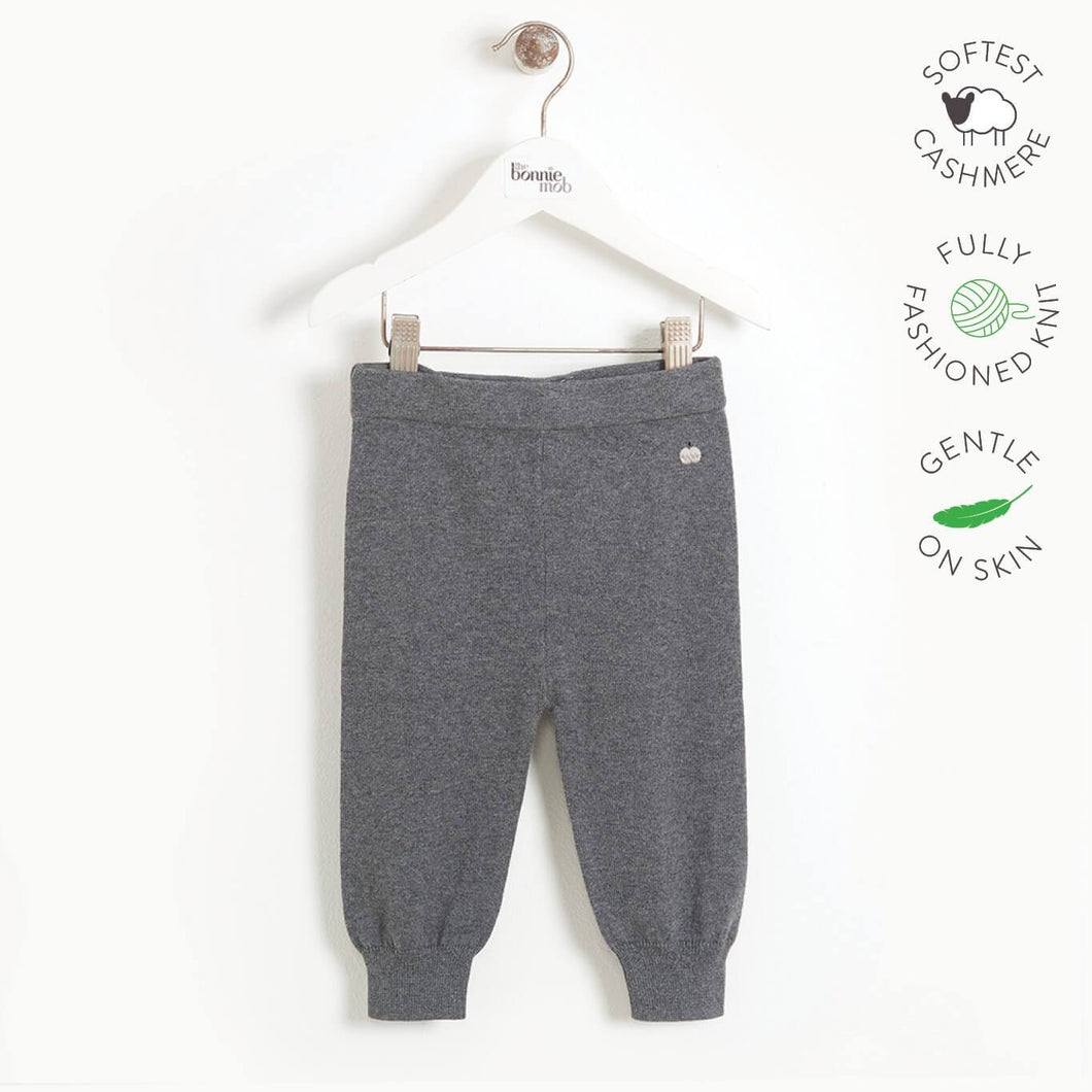 YESTERDAY - Baby Knitted Jogging Trouser - DARK GREY