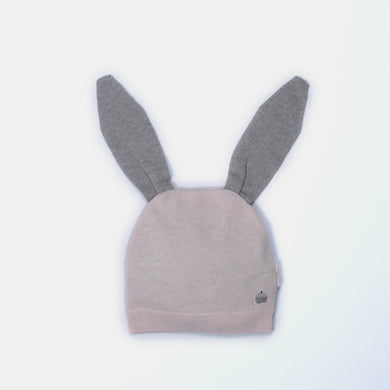 L-DARBY - Bunny Ear Hat - Baby Girl - Pink Calico