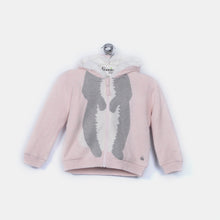 将图片加载到图库查看器,L-DOMINO - Bunny Body Hooded Lined Jacket - Baby Girl - Pink calico
