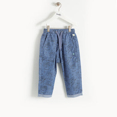 L-BALLAD - Kids - Trousers - BLUE