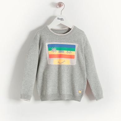 L-RHAPSODY - Baby - Top - GREY