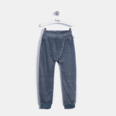 L-LEON - Leopard Ear Trousers - Kids Boy - Slate blue