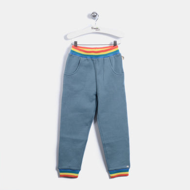 L-ELMA - Quilted Rainbow Spaceship Trousers - Kids Boy - Vintage blue
