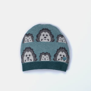 L-HAZEL - Mini Spikey Hedghog Hat - Kids - Pink calico