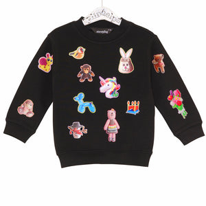 21-S STICKIES - Sweater - BLACK
