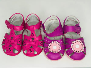 Bundle of 2 Pediped Leather Sandals, size 23
