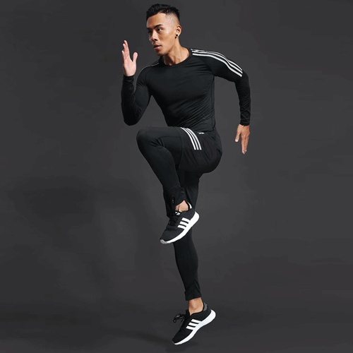 training suit men's gym jogging running suit men's tight fitness workout clothes