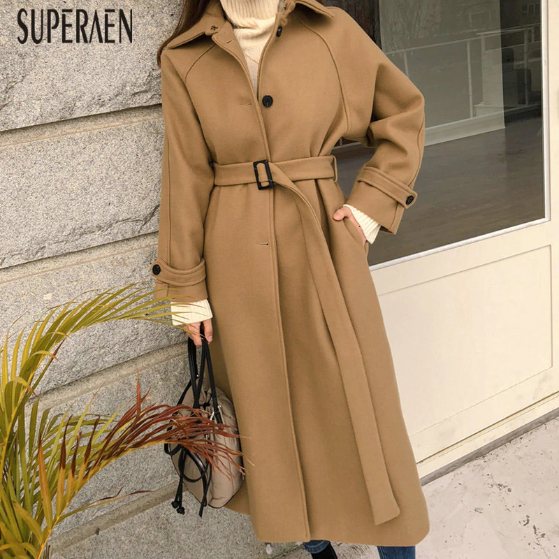 Autumn and Winter New Woolen Coat Women 2019