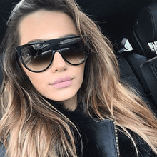 Load image into Gallery viewer, Oversized Flat top Sunglasses Women