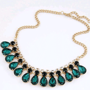 Green crystal necklace and pendant fashion
