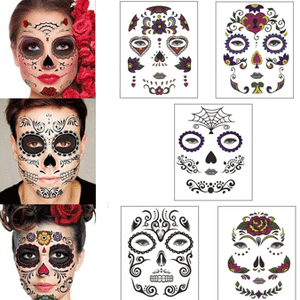 Halloween Temporary Tatoo Face Waterproof