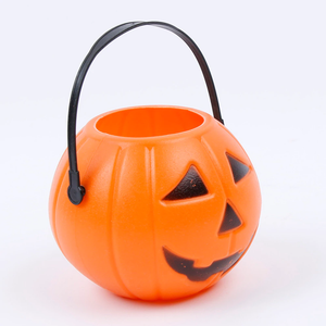 Halloween Party Props Plastic Pumpkin Bucke