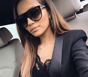 Oversized Flat top Sunglasses Women