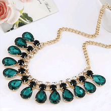 Load image into Gallery viewer, Green crystal necklace and pendant fashion