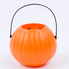 Load image into Gallery viewer, Halloween Party Props Plastic Pumpkin Bucke