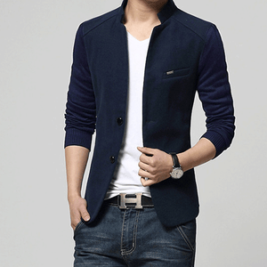 New Mens Blazer Patchwork Suits For Men