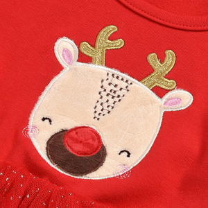 New Baby Child Christmas Elk Dress